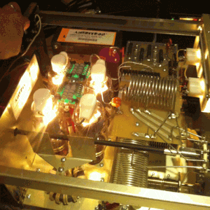 The inside of the Ameritron Linear