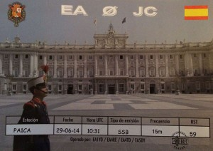 QSL Card of the king of spain, EA0JC